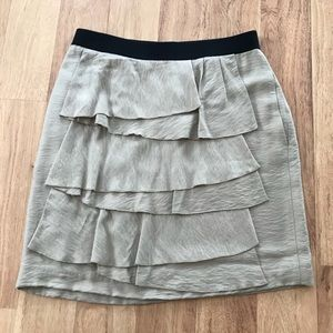 BCBC Cute Ruffled Cream & Black Skirt Size 04